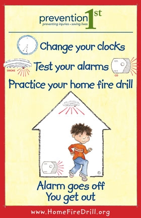 Home Fire Drill Poster